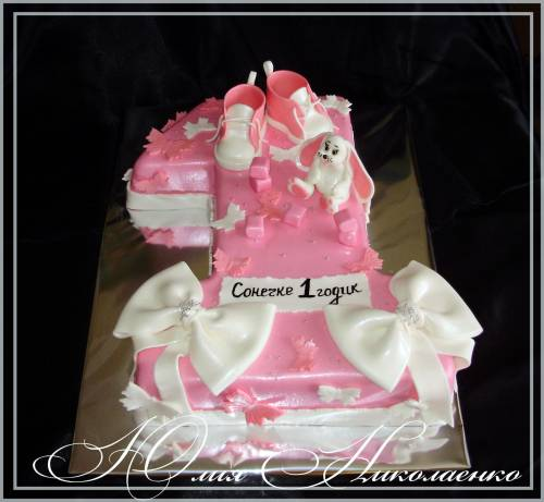 Тортов торт единичка для девочки