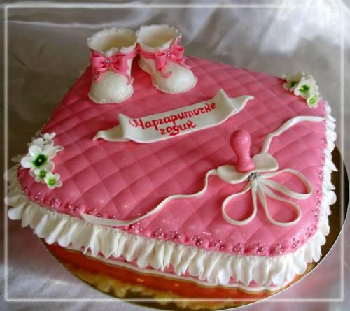 Оформление торта на 1 год девочке